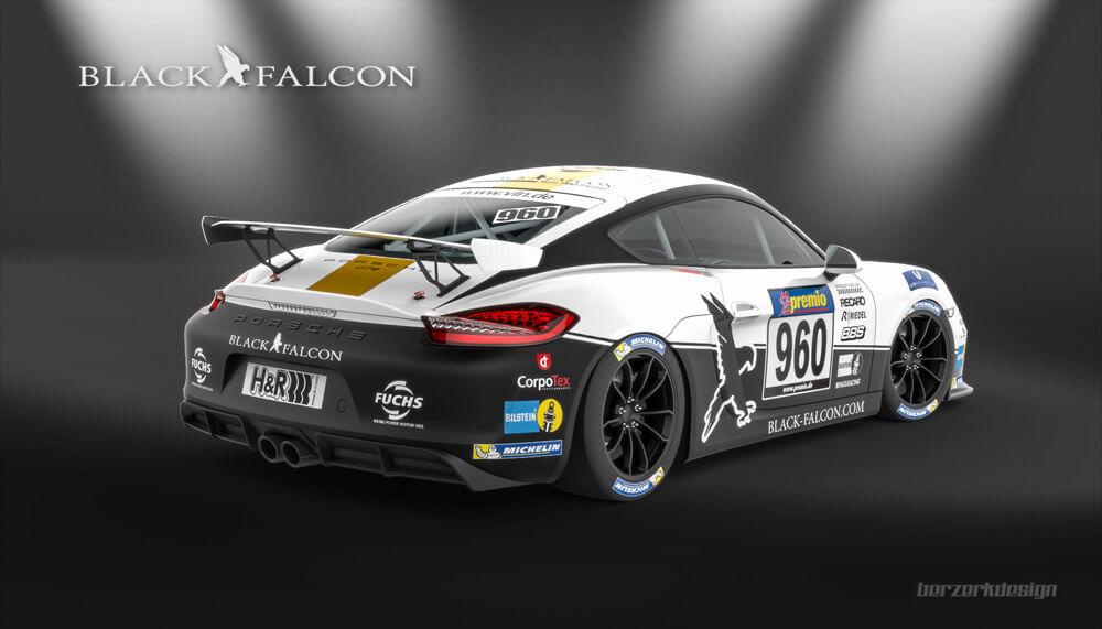 Black Falcon Starts With Two Brandnew Porsche Cayman Gt4 Each